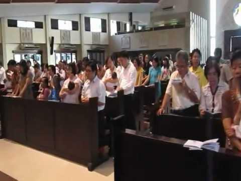 Lagu Penutup. Penerimaan Sakramen Baptis untuk bayi dan anak di grj St.Yoseph Palembang