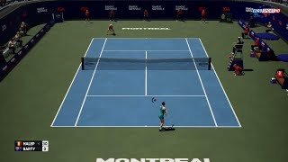 🏸 SIMONA HALEP VS ASHLEIGH BARTY | MONTREAL CANADA | AO INTERNATIONAL TENNIS 2018 | GAMEPLAY PC
