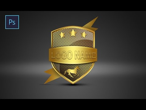 Photoshop Tutorial |  Logo Design shield | ( Sahak Graphics )