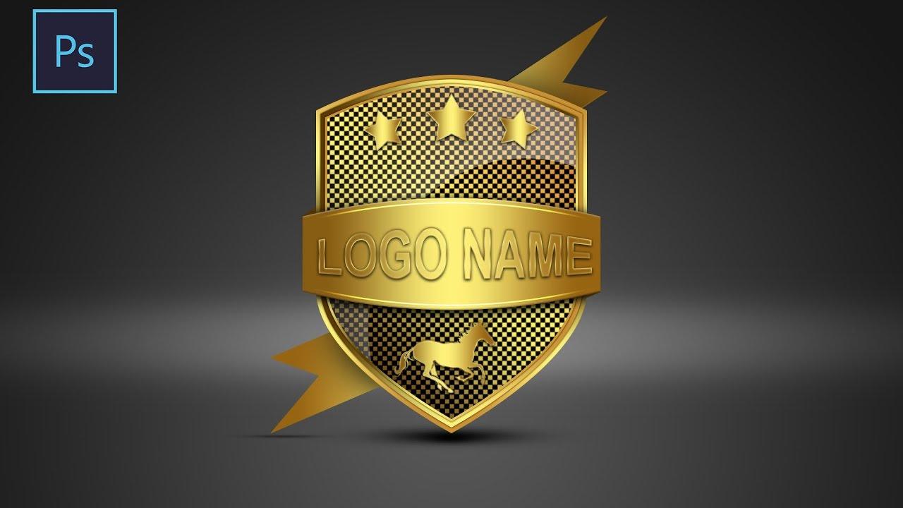 Photoshop tutorial logo design shield sahak graphics youtube baditri Gallery