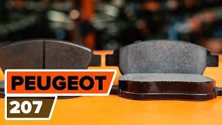 Come sostituire Kit pasticche freni PEUGEOT 207 (WA_, WC_) - video gratuito online