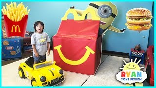 McDonald's Drive Thru with Giant McDonald's Happy Meal & Power Wheels Fast Car