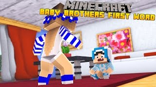 Minecraft-Little Carly-BABY CHARLIES FIRST WORD!!