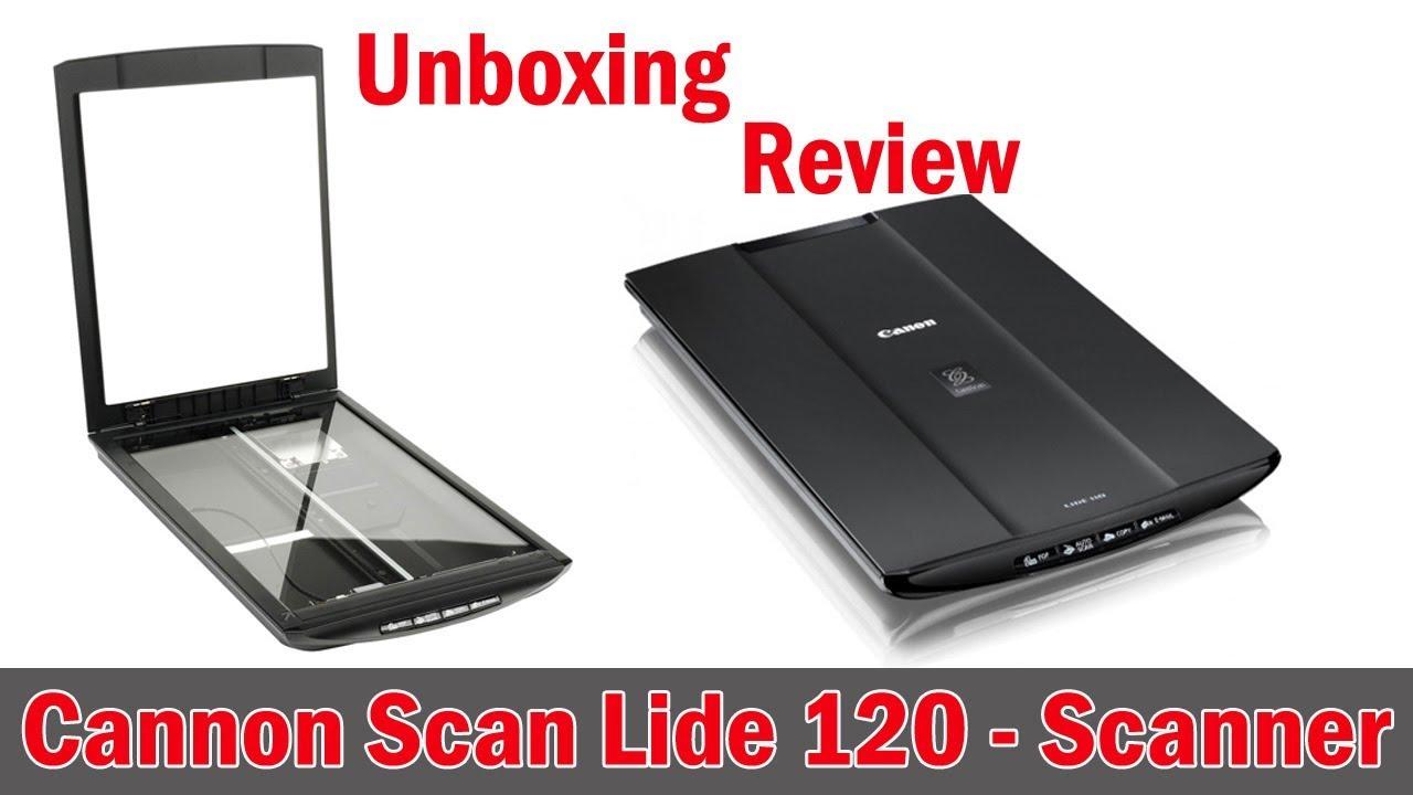 Canoscan Scanner lide 120 unboxing