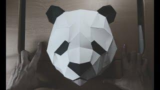 Cómo hacer un OSO PANDA con PAPEL en minutos-PAPERCRAFT