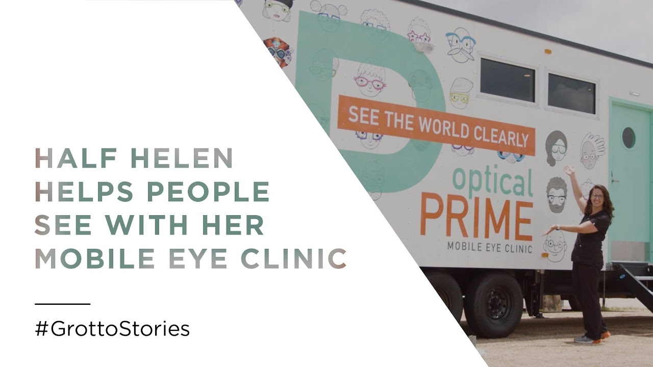 Half Helen Helps People See with Her Mobile Eye Clinic