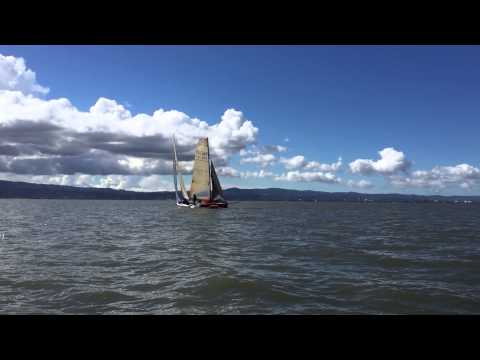 Sequoia Yacht Club Single / Double Handed Series #1 - Mark Rounding and Spinnaker Take down