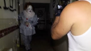 Terrifying Encounter With Pennywise (IT CLOWN) At Haunted Amusement Park