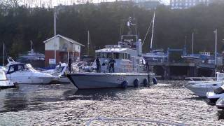 HMS Exploit docks at Penarth Marina - A ship-handling masterclass