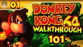 Donkey Kong 64 - 101% Walkthrough - Part 1 (1080p HD)