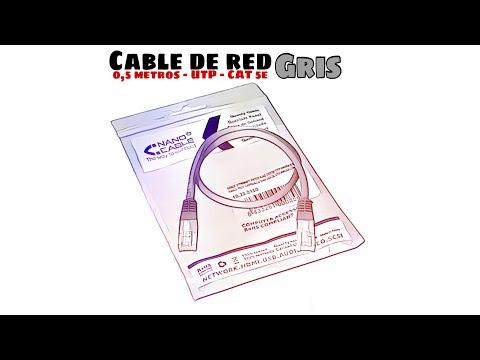 Video de Cable de red UTP CAT5E 0.50 M Gris