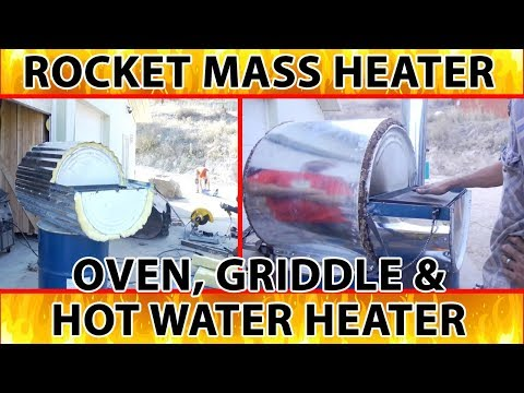 rocket oven, griddle and hot water heater 3-in-1