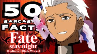 50 SARCASTIC ANIME FACTS - FATE STAY NIGHT (Don't Laugh/Get Triggered Challange - 98% Fail)