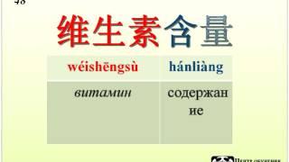 Видео урок китайского языка, уровень средний. 名医话养生 桃子 часть 4