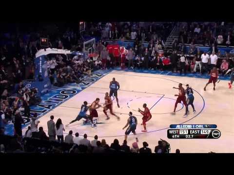 02 26 2012   2012 NBA All Star Game   LeBron James Chokes At End Of Game And Kobe Bryant Calls Him O