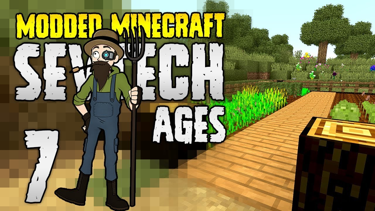 Minecraft SevTech: Ages | 7 | Nutrition Setup! | Modded Minecraft 1 12 2