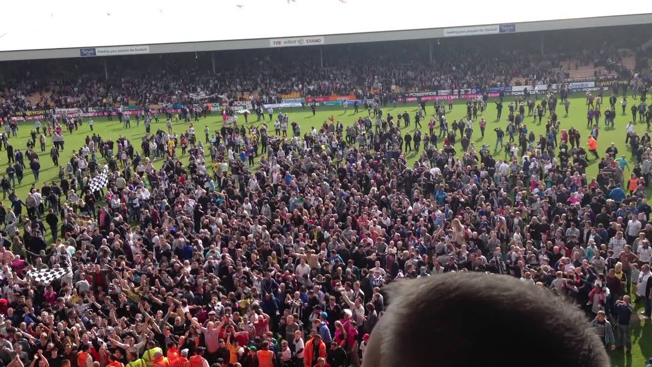 Port Vale Vs Northampton Town Promotion Pitch Invasion