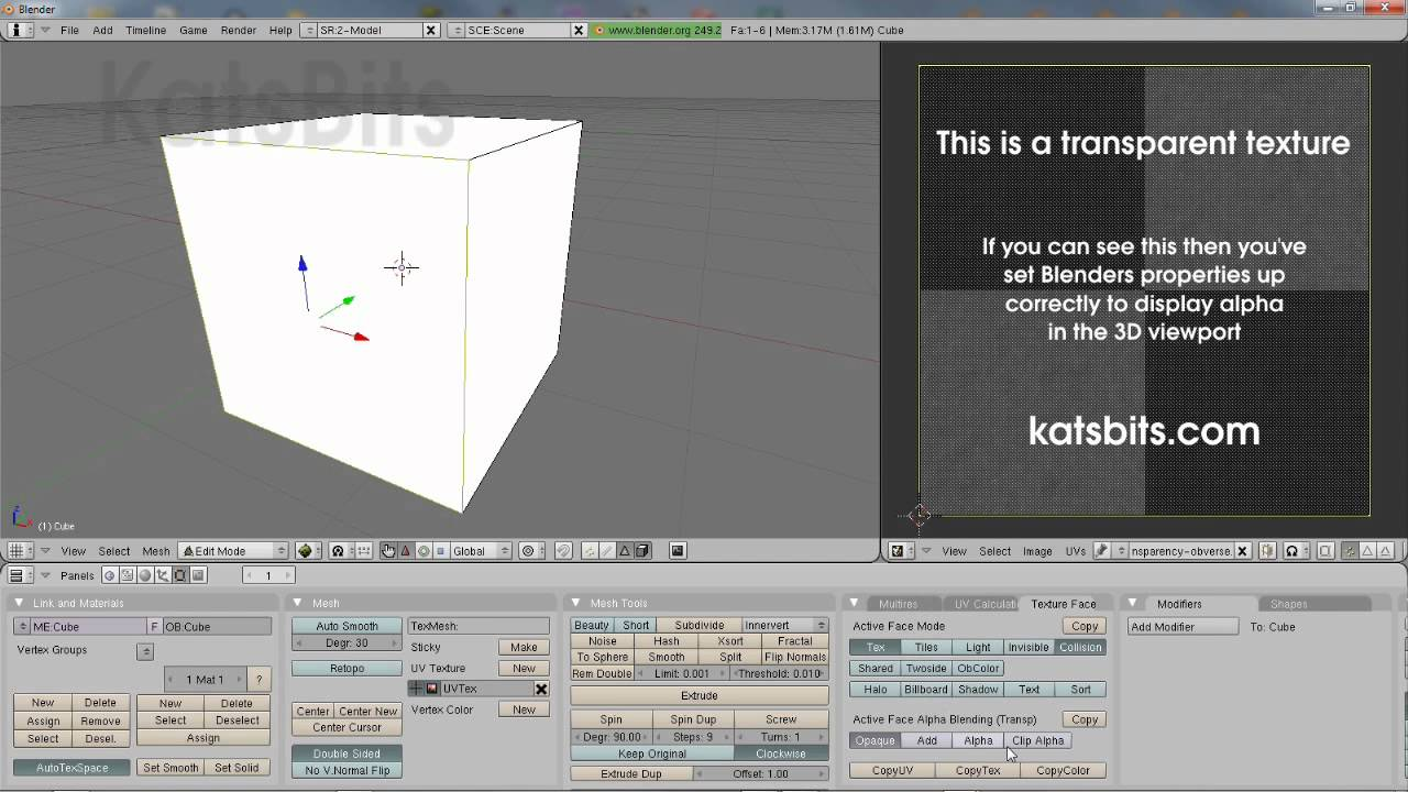 Transparency (textures, alpha-channels, alpha) in Blender : KatsBits