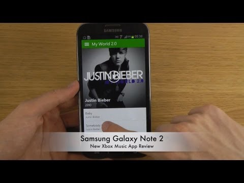 Samsung Galaxy Note 2 - New Xbox Music App Review
