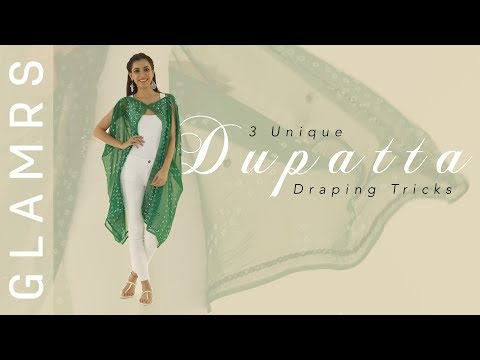 3 New & Unique Ways To Style Your Dupatta | DIY Stylish Cardigan, Top and Poncho