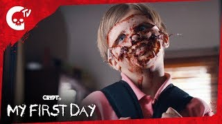 My First Day | Funny Short Horror Film | Crypt TV