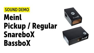 Meinl | Pickup BassboX, SnareboX | Sound Demo