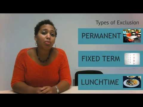 Types of Exclusion | Understanding School Exclusions: UCL CAJ