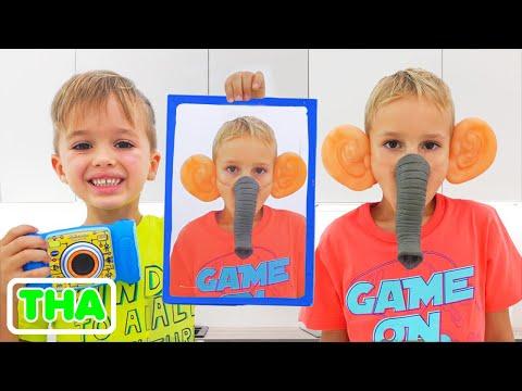 วลาดและนิกิเล่นกับรูปถ่าย | วิดีโอตลกสำหรับเด็ก