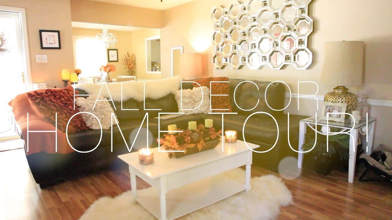 Fall decor home tour nitraab youtube for Decorative home