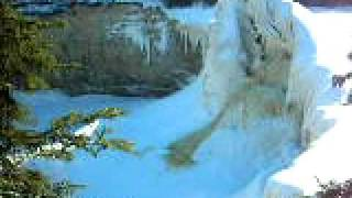 NWT trip 2010 - Frozen Alexandra Falls - near Hay River, NWT