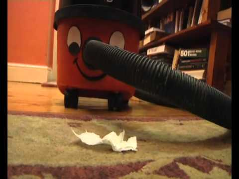 Henry the Hoover vs A Piece of Tissue