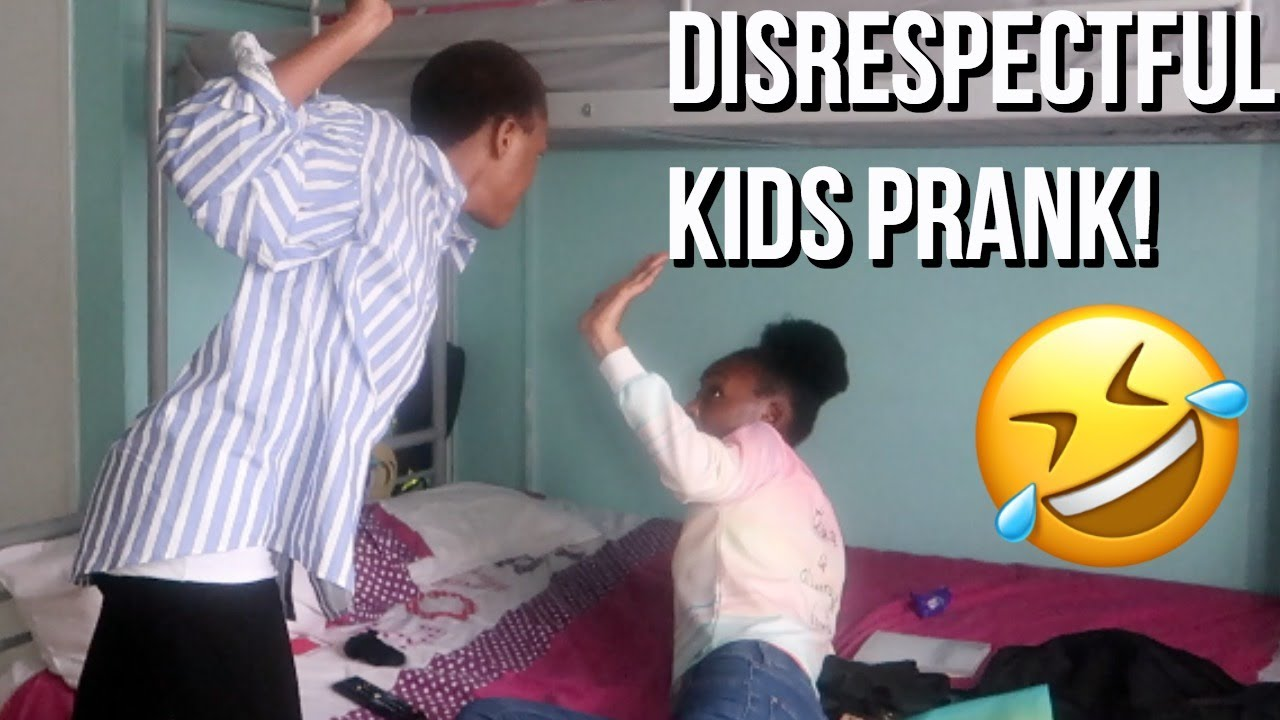 DISRESPECTFUL KIDS PRANK ON AFRICAN MUM!!