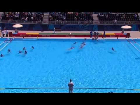 ITALY v SERBIA Women Water Polo, Baku 2015
