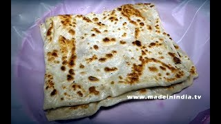 #SQUARE INDIAN FLAT BREAD   RARE STYLE OF MAKING CHAPATI   SOUTH INDIAN STREET FOOD