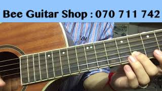 កូនស្រីអ្នកនេសាទ Guitar Lessons / Strumming - Kon Srey Nak Ne Sat - កូនអ្នកនេសាទ