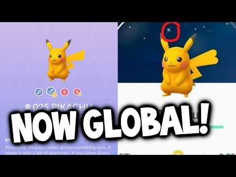 GLOBAL RELEASE: SHINY PIKACHU NOW IN POKEMON GO!