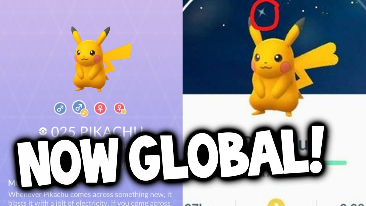 GLOBAL RELEASE: SHINY PIKACHU NOW IN POKEMON GO! - YouTube