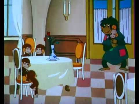 Мультфильм с мамой обезьяной