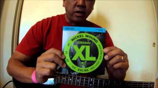 """New D'Addario Nickel Wound Bass Strings"""