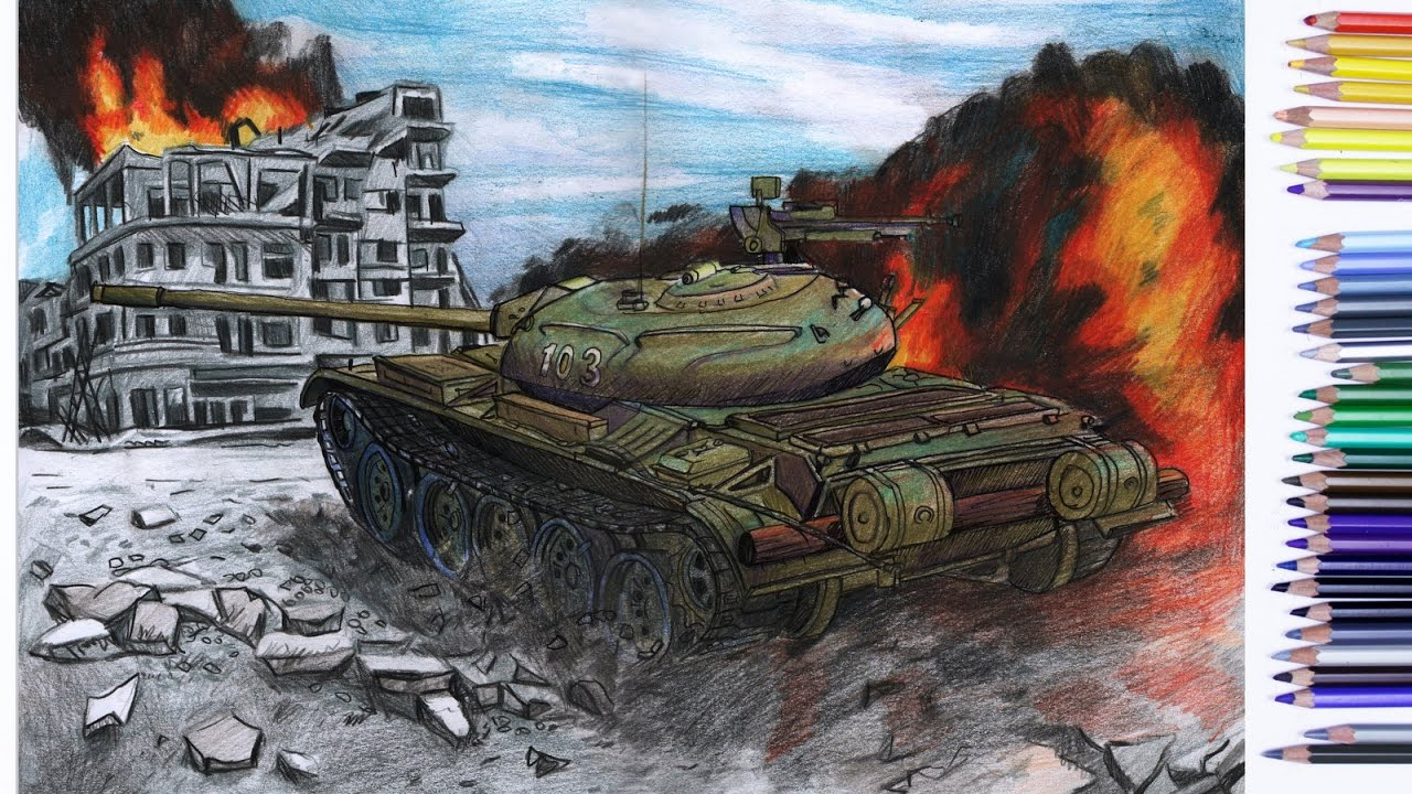Speed Drawing: T-54 from World of Tanks