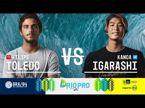 Filipe Toledo vs. Kanoa Igarashi - Round Three, Heat 10 - Oi Rio Pro 2017