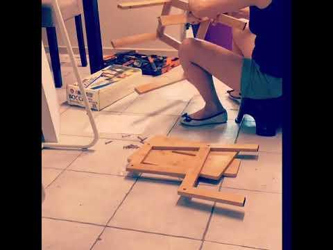 DIY KMART BAMBOO STEP STOOL