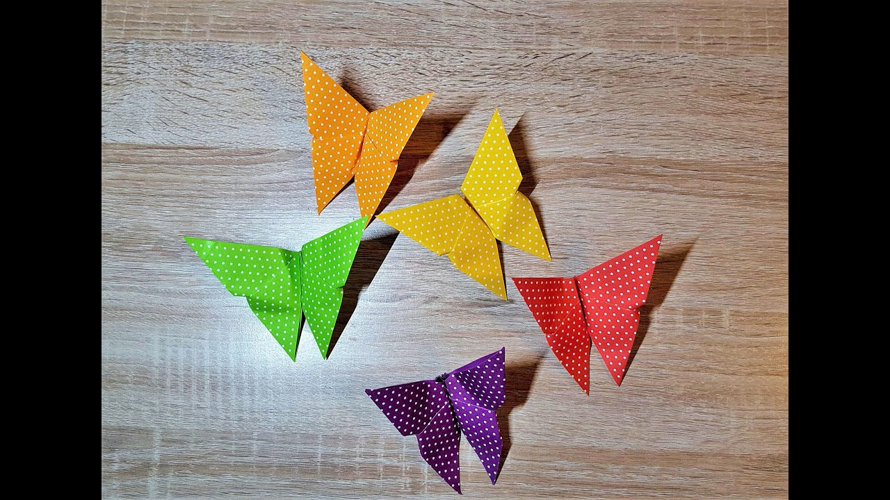 Origami Schmetterling - der einfache Klassiker/ DIY ... - photo#47