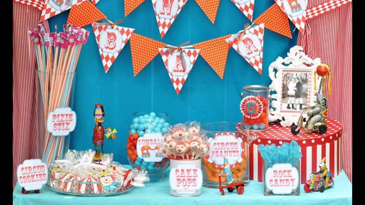 treats at circus centerpieces a carnival decorations decor birthday party pages in ideas box