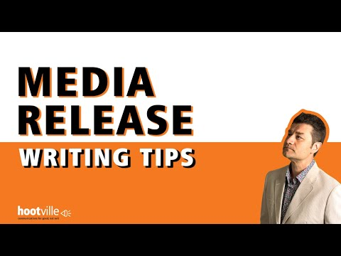 How to write a media release
