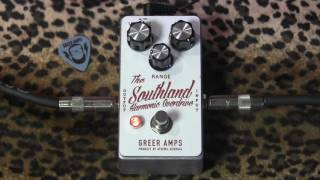 Greer Amps SOUTHLAND Harmonic Overdrive pedal demo