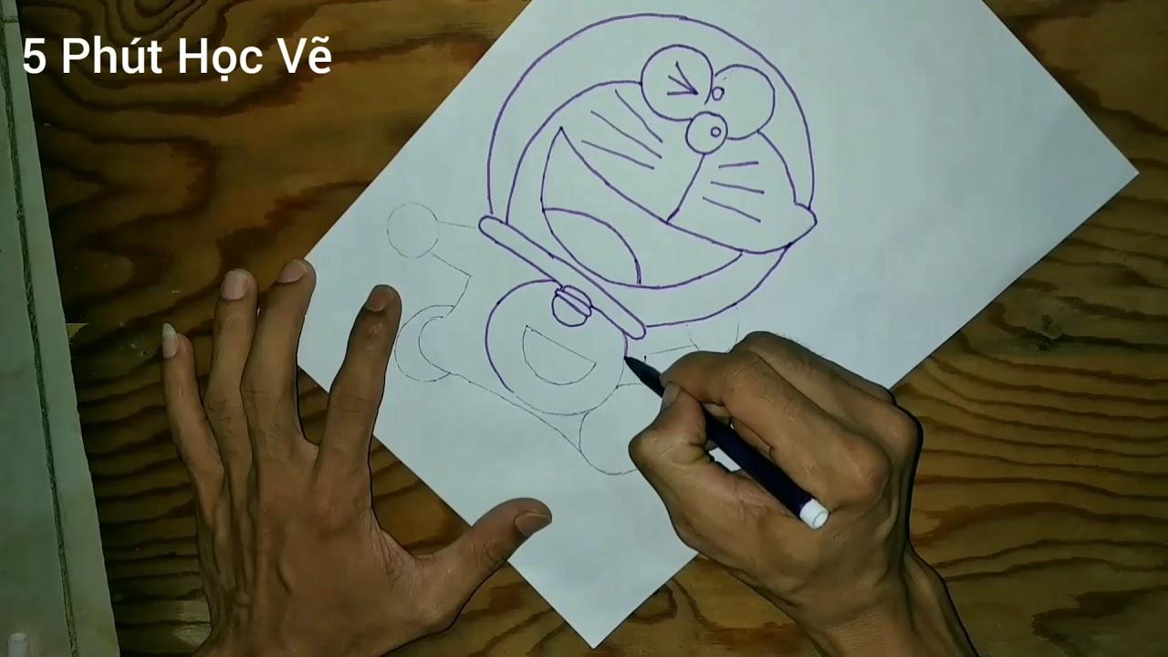 Cách Vẽ Doraemon Đơn Giản Siêu Đáng Yêu – Phần 1 | 5 Phút Học Vẽ