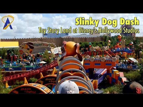 Slinky Dog Dash Roller Coaster FULL POV In Toy Story Land