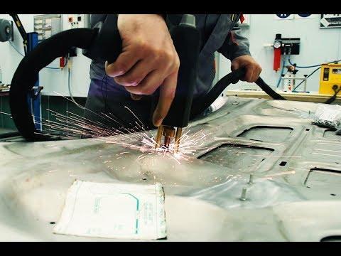 Как убрать вмятину на кузове из алюминия