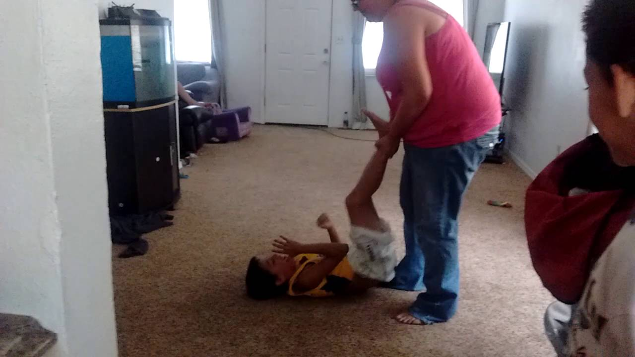 Kid gets beat up by is MOM :)